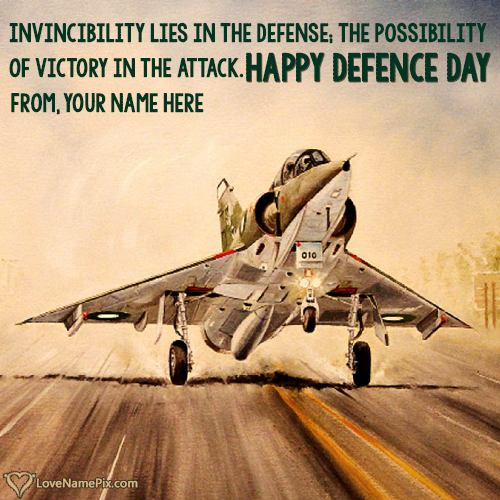 Write Name on 6 September Happy Defence Day Dps Picture