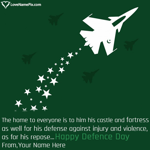 Write Name on 6th September Defence Day Quotes Picture
