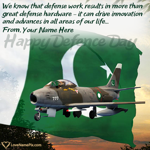 Write Name on 6th September Dp For Defence Day Picture