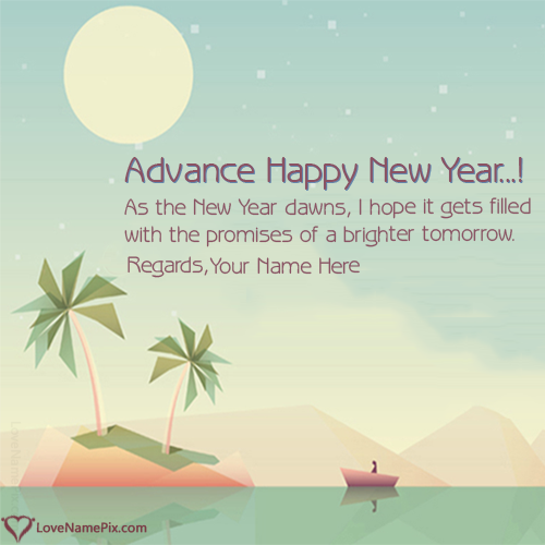 Advance Happy New Year Wishes With Name