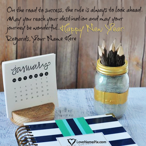 Write Name on Amazing Ideas For New Year Wishes Images Picture