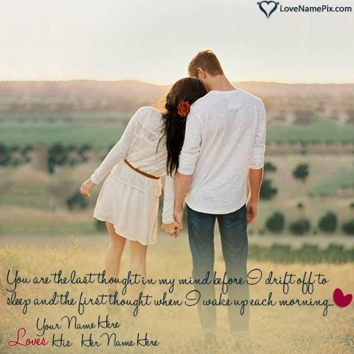 Beautiful Couple Love Images Editor With Name