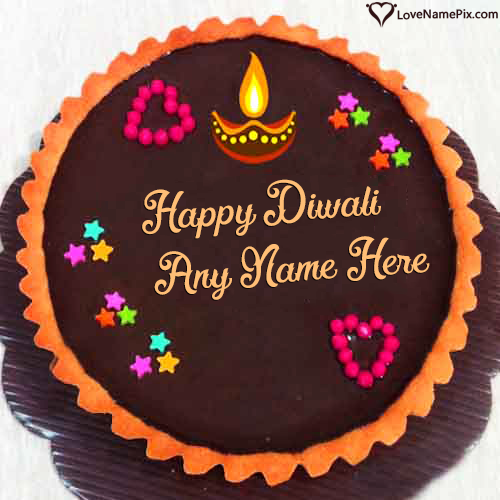 Beautiful Happy Diwali Cake Wishes With Name