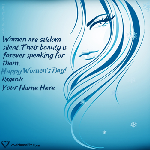 Write Name on Beautiful Womens Day Quotes Wallpaper Picture