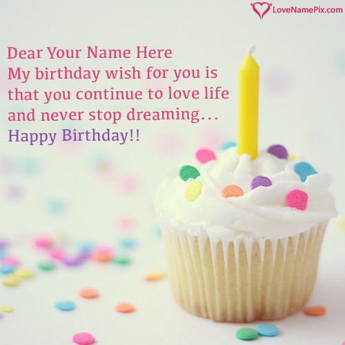 Write Name on Best Birthday Wishes Cupcake Ideas Picture