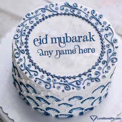 Write Name on Best Eid Mubarak Cake Images Picture