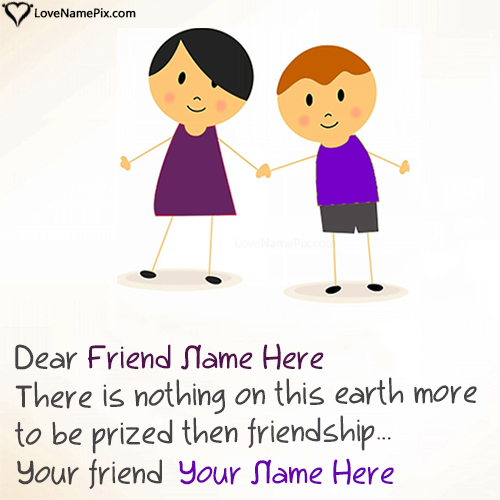 Write Name on Best Friendship Messages Picture