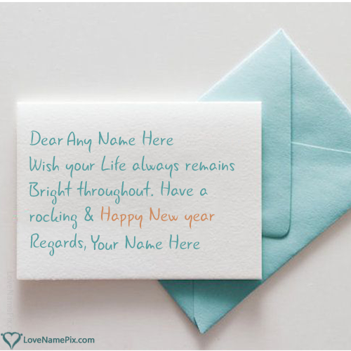 Best New Year Text Messages With Name