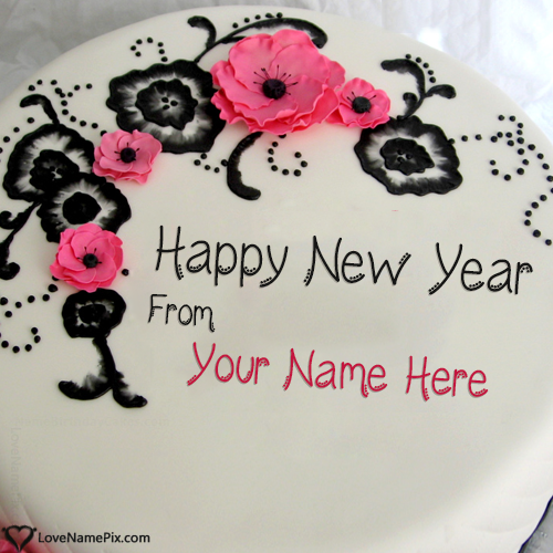 Best New Year Wishes Cake With Name