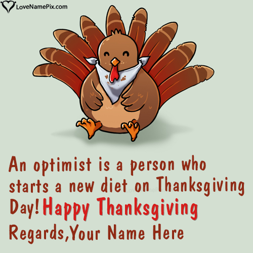 Write Name on Best Thanksgiving Wishes Quotes Picture