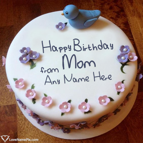 Write Name on Birthday Cake For Mother From Daughter Picture