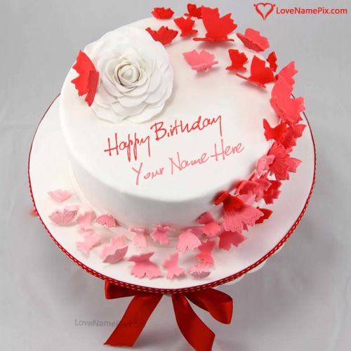 Write Name on Birthday Cake Online Editing Option Picture