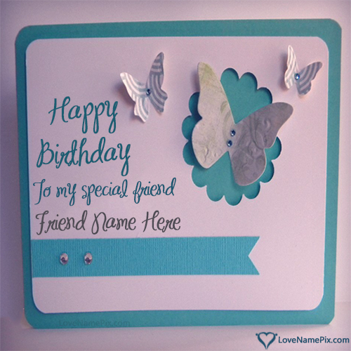 Write Name on Birthday Wishes Cards For Friend Picture