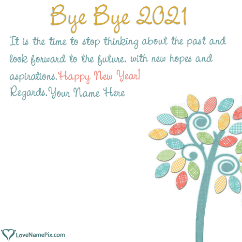 Bye Bye 2020 Wishes Quotes With Name