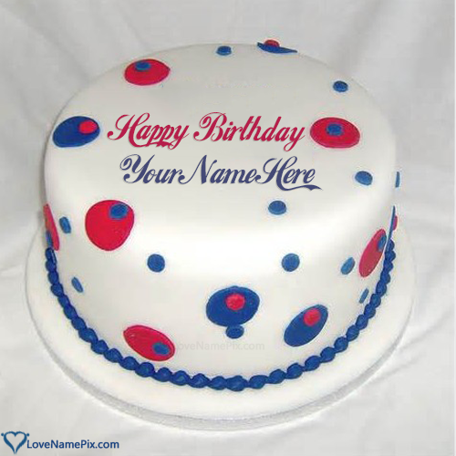 Write Name on Coolest Happy Birthday Cake For Men Picture