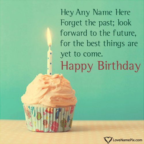 Write Name on Cupcake Birthday Wishes Quotes Picture