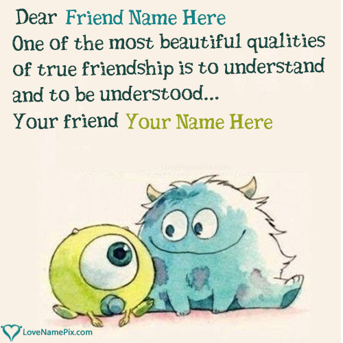Write Name on Cute Best Friend Quotes Picture