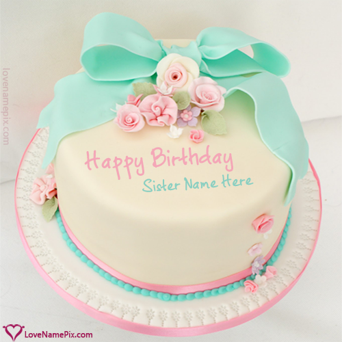 cute birthday wishes cake for sisters love name pix 98dd