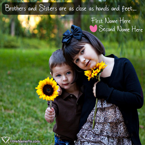 Cute Brother Sister love Quotes With Name