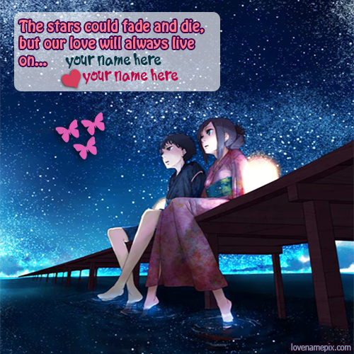 Cute Couple In Romantic Stars With Name
