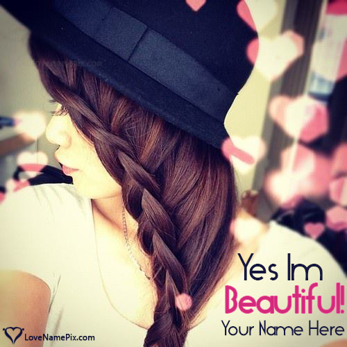 Write Name on Cute Girls Hairstyles Picture