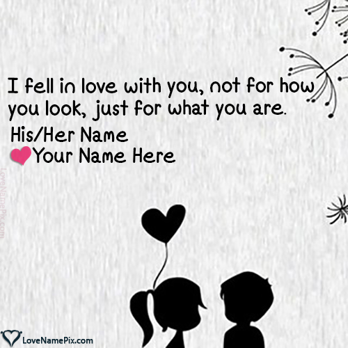 Write Name on Cute Lovers Name Combiner Picture
