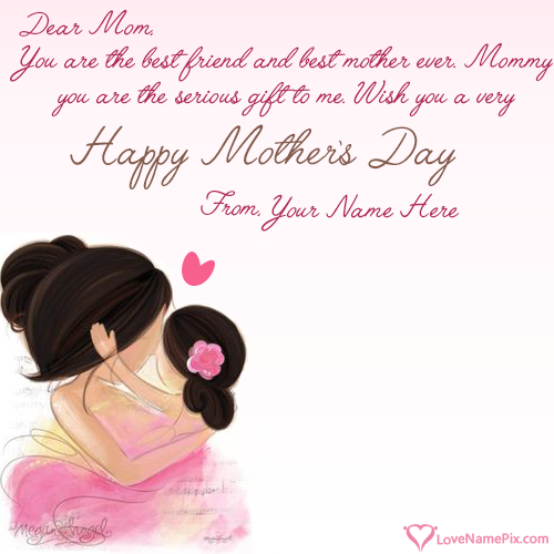 Write Name on Cute Mothers Day Messages Picture