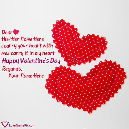 Write Name on Cute Valentines Quotes Wallpapers Picture