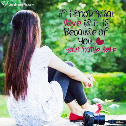Write Name on Cutest Girly Love Quotes Picture