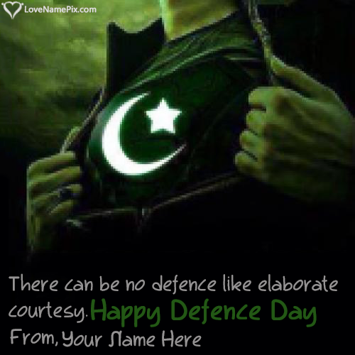 Write Name on Defence Day Of Pakistan Wishes Picture