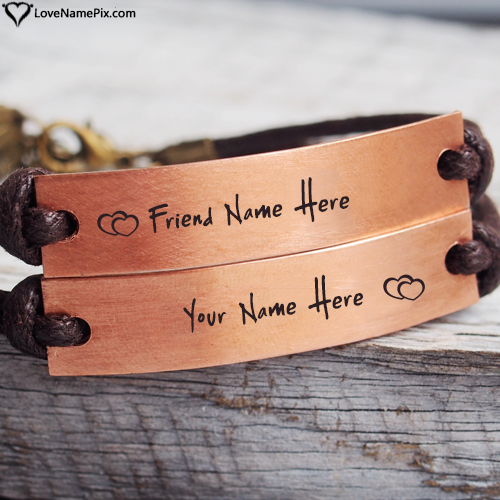 Write Name on Friendship Band For Best Friends Picture