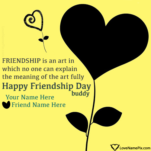 Write Name on Friendship Day Greetings Images Picture