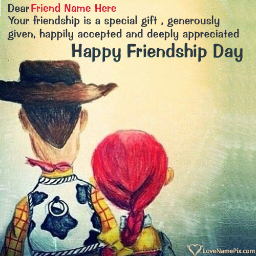 Write Name on Friendship Day Greetings Messages Picture
