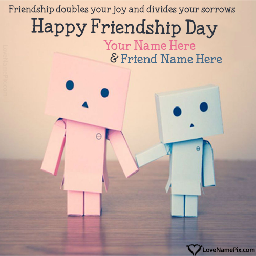 Write Name on Friendship Day Images Best Friends Picture