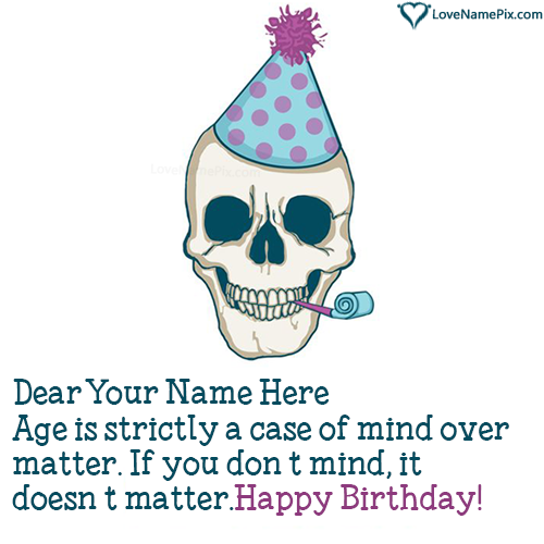 Write Name on Funny Birthday Wishes Cards Picture
