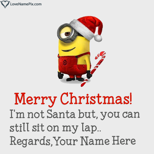 Write Name on Funny Christmas Wishes Quotes Picture