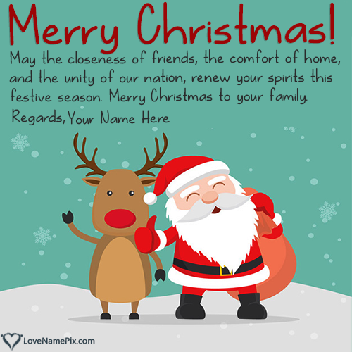 Write Name on Generator For Christmas Wishes Sayings Picture