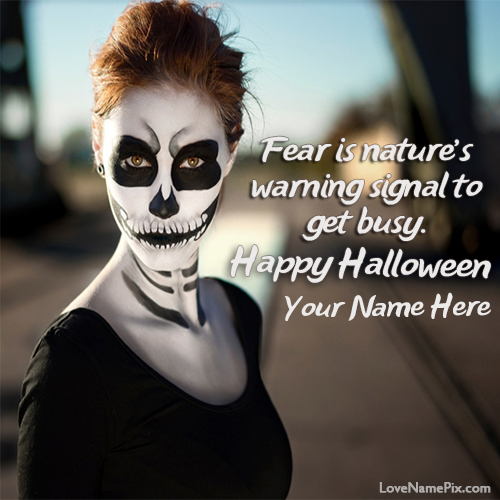 Write Name on Halloween Quotes Wishes Picture