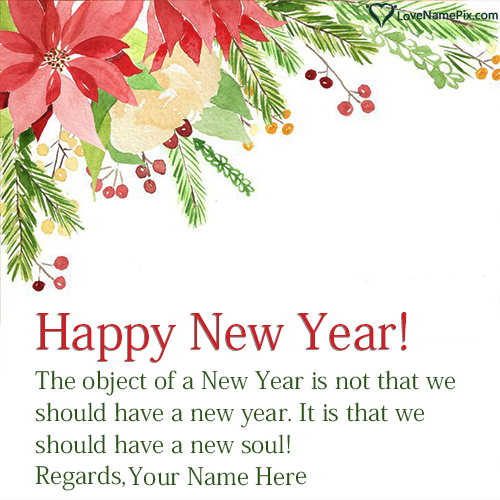 Handmade Happy New Year Wishes Card With Name