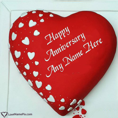 Happy Anniversary Cake Images With Name