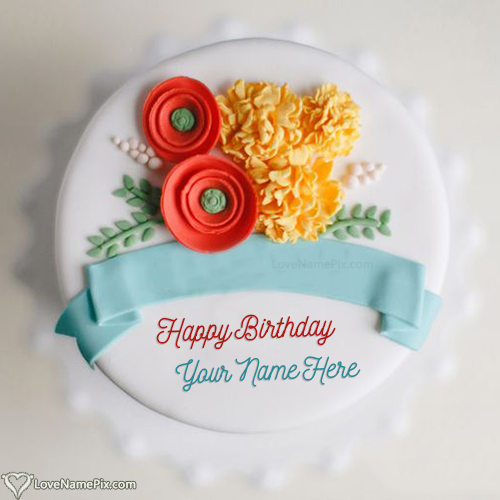 Write Name on Happy Birthday Cake Images With Wishes Picture