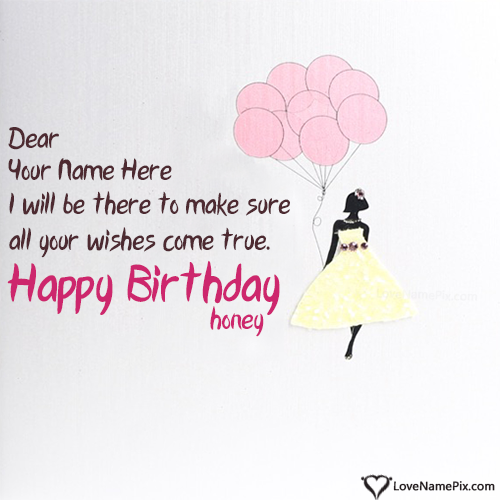 Write Name on Happy Birthday Wishes For Girlfriend Picture