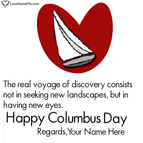 Write Name on Happy Columbus Day Quotes Picture