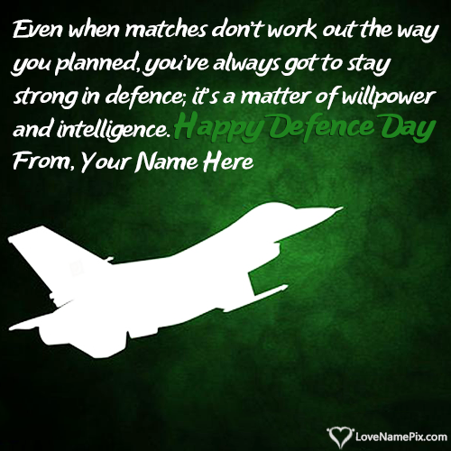 Write Name on Happy Defence Day Of Pakistan Picture