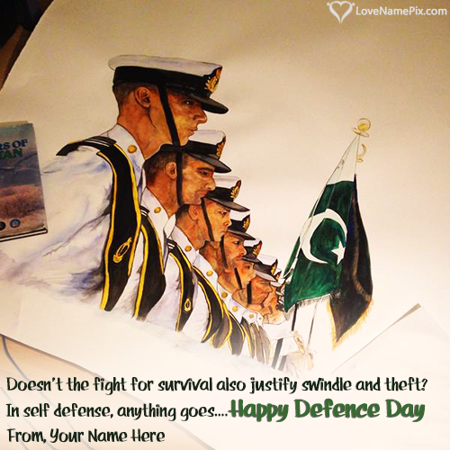 Write Name on Happy Defence Day Profile Picture Picture