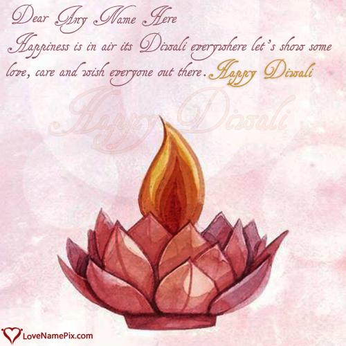 Happy Diwali Wishes Photo Edit With Name