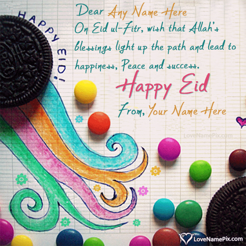 Happy Eid Wishes Quotes With Name