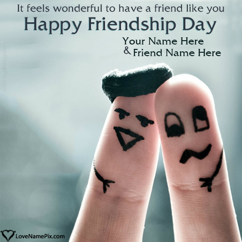 Write Name on Happy Friendship Day Images Picture