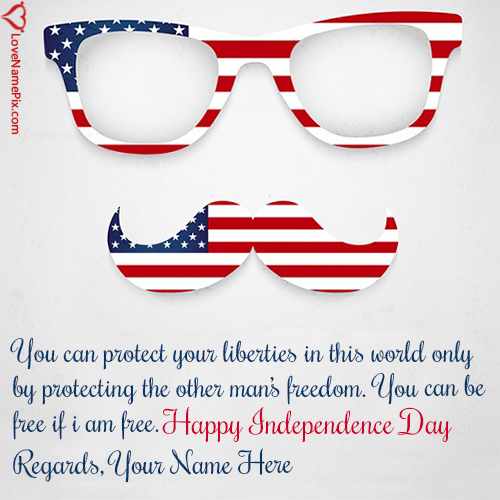 Happy Independence Day United States Of America With Name