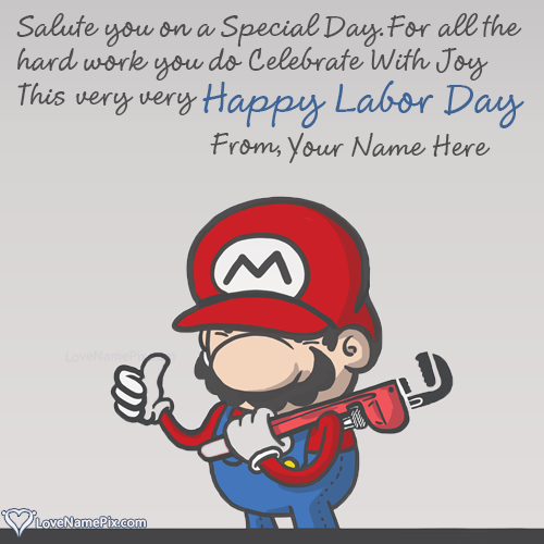 Write Name on Happy Labor Day Wishes Quotes Picture